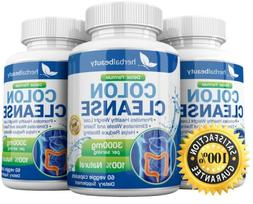 3X Herbal Beauty COLON CLEANSE DETOX Max 3000mg Diet Pills W