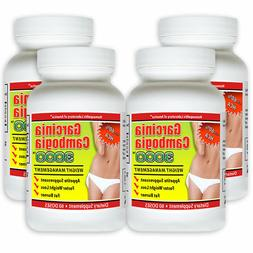 4 Pack PURE Garcinia Cambogia Extract Natural Weight Loss HC