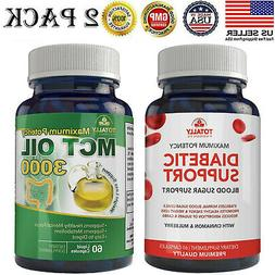 Diabetic Blood Sugar Support Capsules MCT Oil Weight Loss Pi