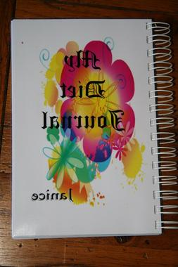 Food Journal Weight Loss Diet Book Calorie & Exercise Tracke