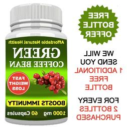 GREEN COFFEE BEAN EXTRACT FAST WEIGHT LOSS 1000 mg FAT BURNE