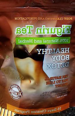 New - Natural Weight Loss and Detox Figurin Tea , Cleanse Bo