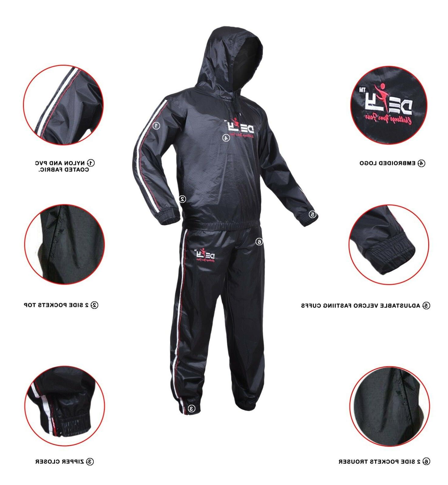 Heavy DEFY Sweat Suit Exercise Suit Fitness Loss Anti-Rip
