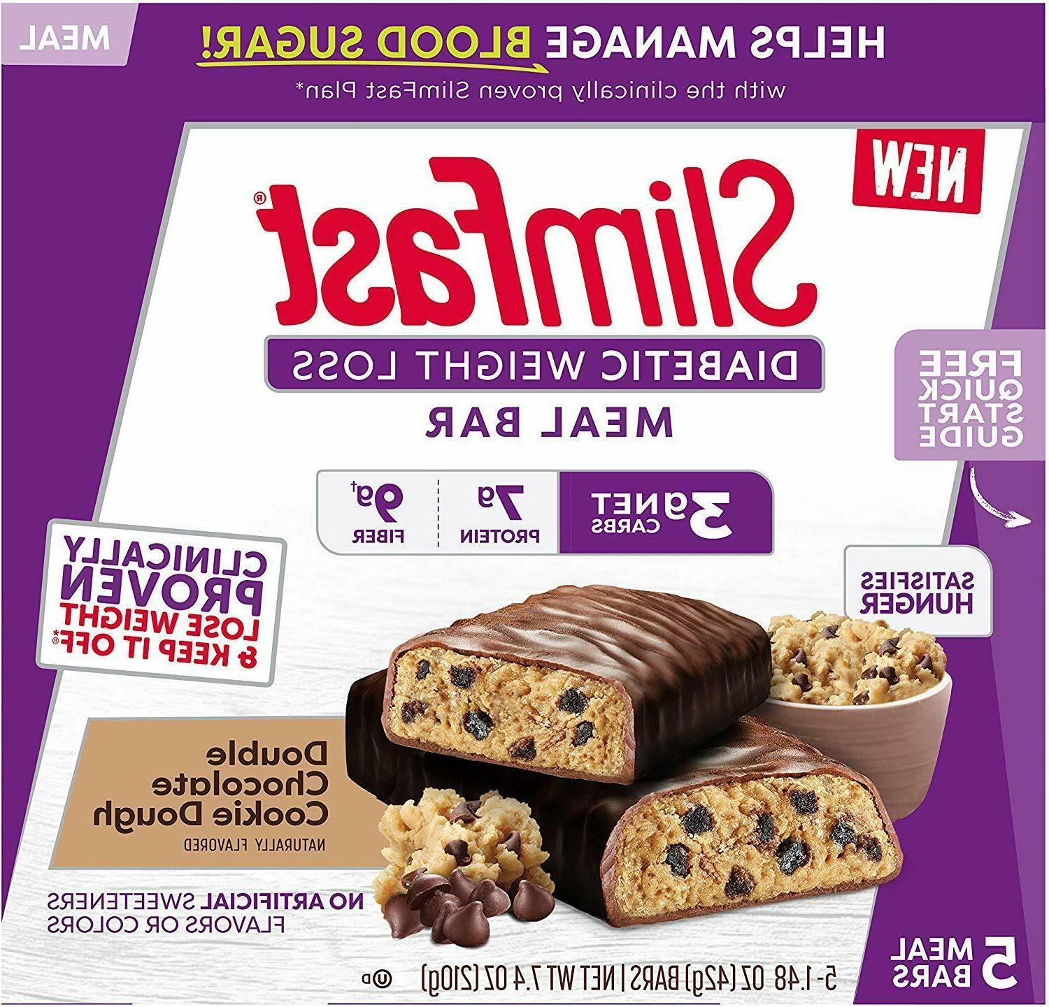 slimfast diabetic weight loss meal replacement bar