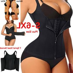 Plus Size Women Waist Trainer Corset Weight Loss Neoprene Bo