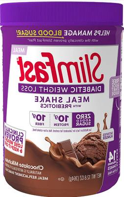 Slimfast Diabetic Weight Loss Chocolate Meal Replacement Sha