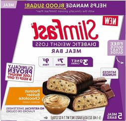 SlimFast Diabetic Weight Loss Meal Replacement Bar 7.4oz Pea