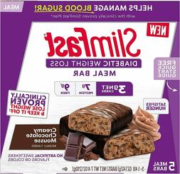 SlimFast Diabetic Weight Loss Meal Replacement Bar Creamy Ch