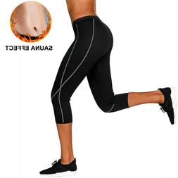 Women Weight Loss Hot Neoprene Sauna Sweat Pants with Side P